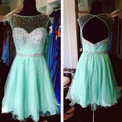 Hot Sale Crystals Homecoming Dresse..