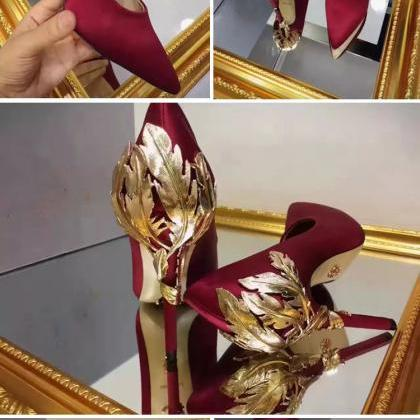 Burgundy for wedding silk bridal he..