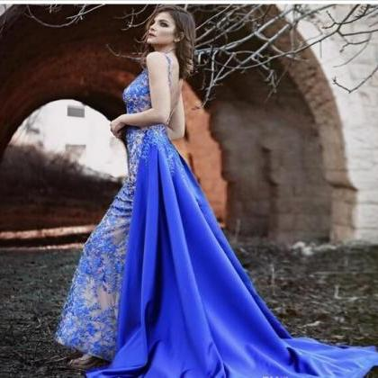 2df1eba5160 ... Beads Lace Applique Backless Evening Dresses. Royal Blue Mermaid Prom  Dresses Wit.. Royal Blue Mermaid Prom Dresses Wit.