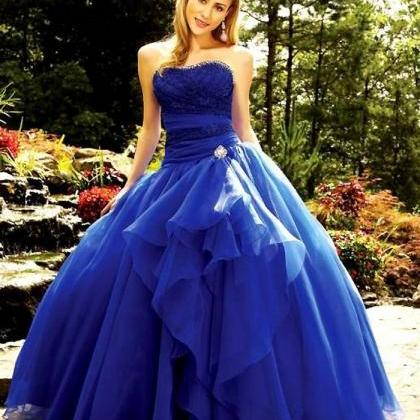 Royal Blue Floor Length Custom Mad..
