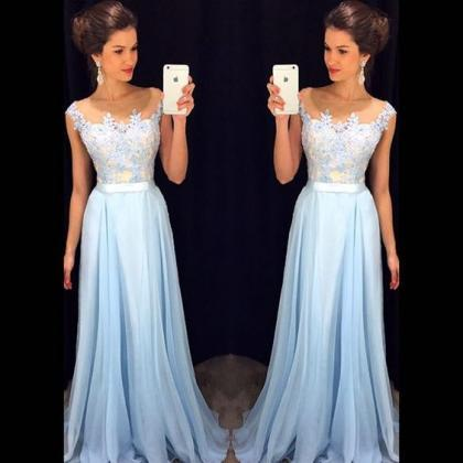 A Line Chiffon Evening Dresses, Lac..