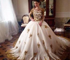 Tulle Gold Lace Appl..