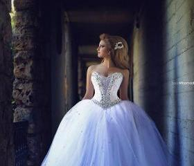 Romantic white tulle..