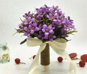 Purple Wedding Bouqu..