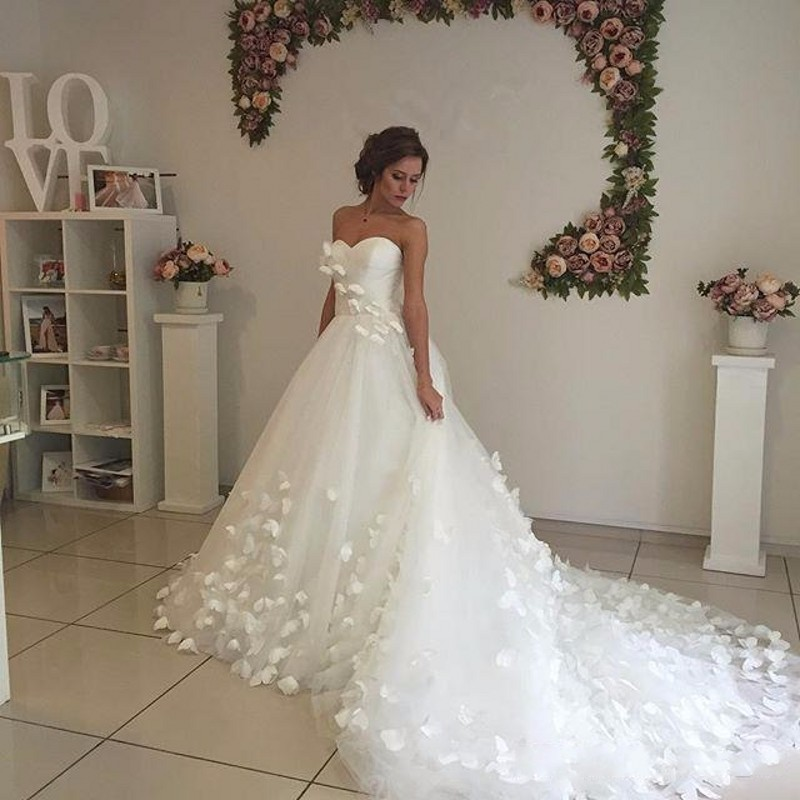 Custom Size A Line Tulle Sweetheart China Country Western Bridal ...