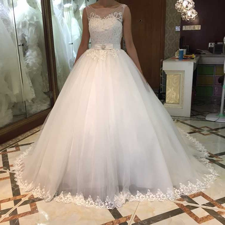 Wedding Dress 2020 Simple Backless A-line wedding dresses Appliques Lace Open Back vestido de noiva wedding gown