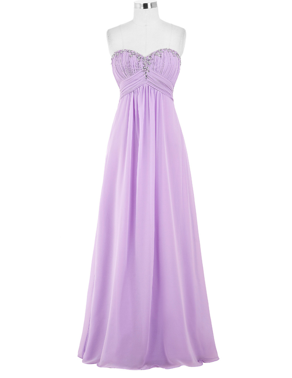 3dd442402 Elegant Light Purple Evening Dresses Long Formal Gown Chiffon Prom Dresses  2018 Sexy Evening Gown Dress