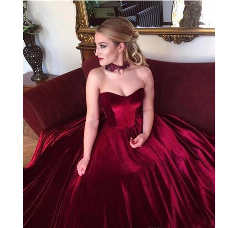 2bafaef8a9484 Vintage Off the Shoulder Prom Dresses Burgundy Velvet Long Evening Dress  Plus Size Formal Gowns Cheap