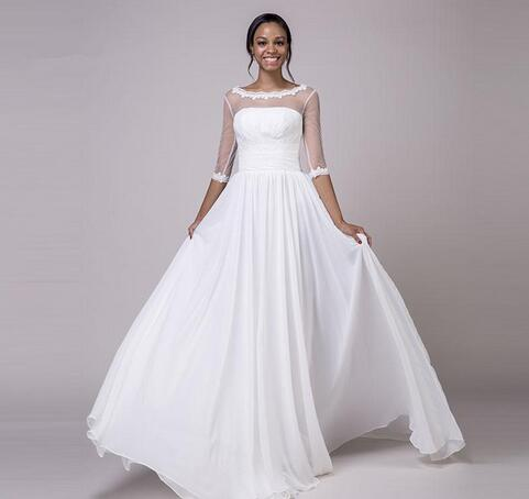 Vestido De Novia A Line Wedding Dress Plus Size Beach Wedding Gowns