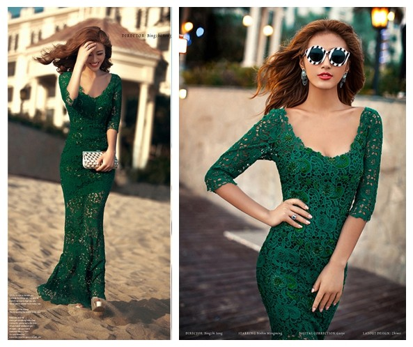 8f93b50564 2016 Sexy Mermaid Lace Women Dresses Sheer Long Sleeve Brazil   Russian  Women Gowns Vestidos Casual Dress