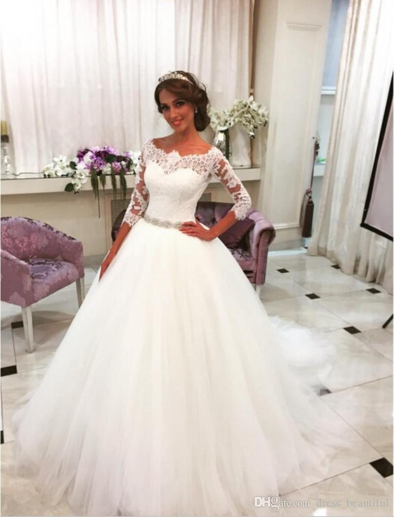 Lovely Princess Ball Gown Wedding Dresses Bridal Dresses 2017 Three ...