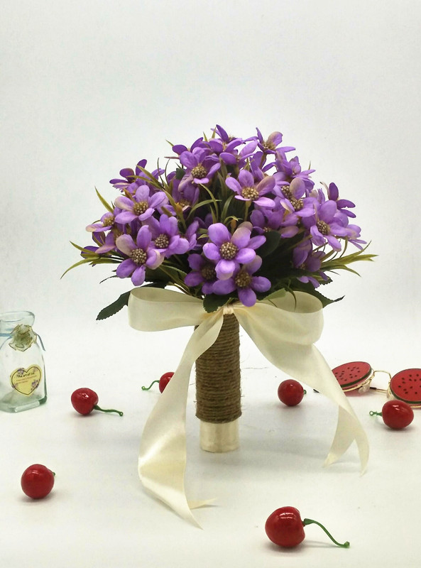 Purple Wedding Bouquet Handmade Flowers Bridal Bouquet Wedding Bouquets