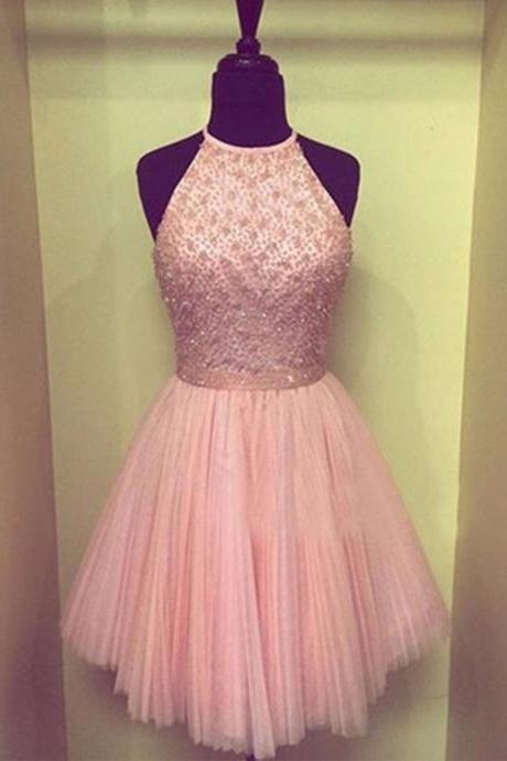 Knee Length Chiffon CUSTOM Size Pink Homecoming dress Spaghetti Straps Short Prom Dress For Full Figures