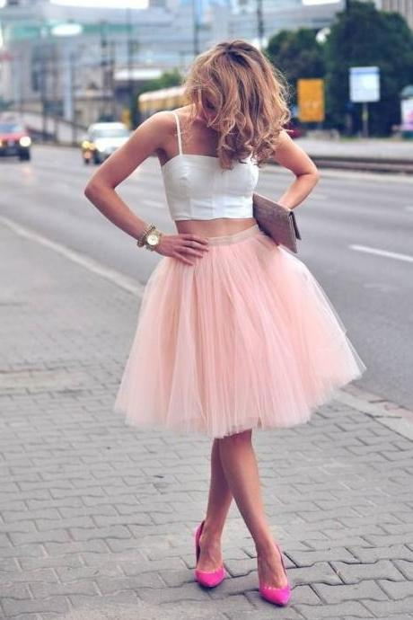Nice White and Pink Cheap Homecoming Dresses Short 2 Piece Prom Dresses Spaghetti Straps Vestido de Festa Curto Girl Party Dress