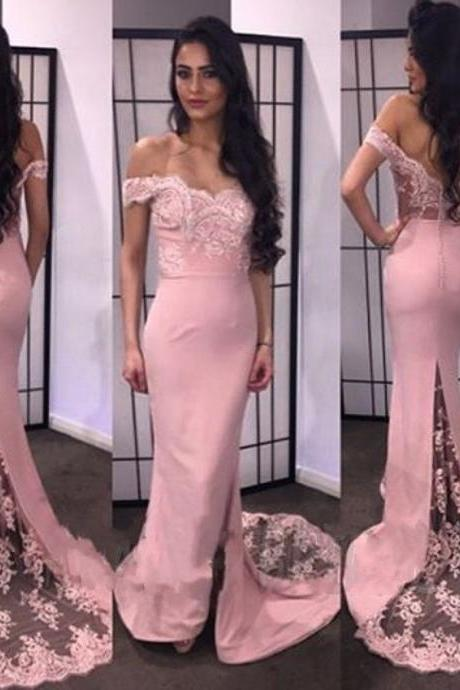 Prom Gowns Sexy Off the Shoulder Lace Mermaid Prom Dresses 2020 Long Appliques Evening Party Dress Custom Made