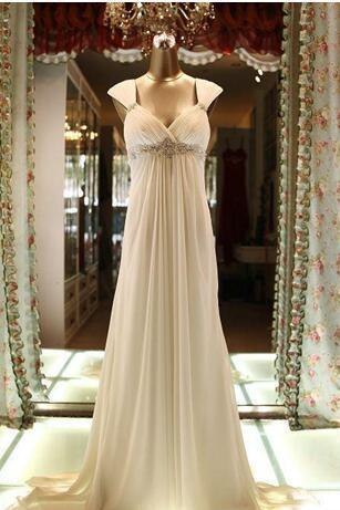 Real Images Sweetheart Empire Maternity Dresses Chiffon Beaded Long Evening Bridesmaid Gowns A-Line Formal Dresses for Pregnant Woman