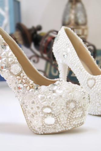 2019 In Stock Sparkle Women Pumps 10 cm High Heels Wedding Bridal Shoes Crystals Lace Pointed Toe High Heels