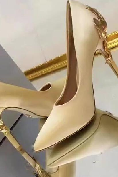 Champagne for wedding silk bridal heels evening prom shoes