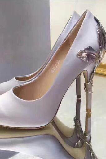 Silver for wedding silk bridal heels evening prom shoes