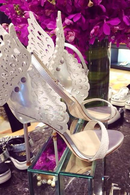 White stiletto wedding shoes for wedding evening/prom/party/dinner same as the vampire diaries