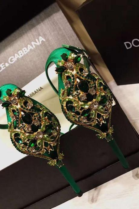 2019 new arrival green/black silk women crystal wedding shoes stiletto heel pumps formal shoes for wedding party prom