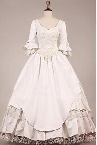 VINTAGE VICTORIAN WEDDING DRESS 2016 new style Vintage Wedding Dresses A Line Lace Bridal Ball Gowns Dresses