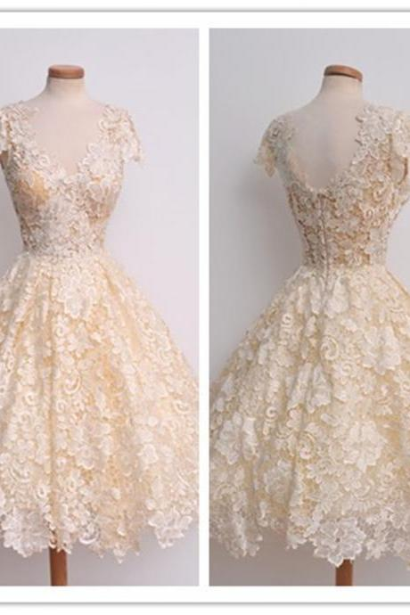 2016 Vintage A Line Chiffon Lace Acents Women Casual Dresses Prom Party Gowns vestidos AB554