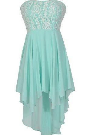 Mint Sweetheart Lace Accents Prom Dress Sleevless Mini Short Homecoming Party Dress Gowns