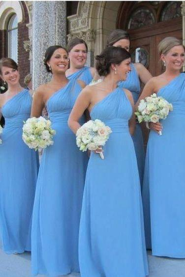 Sheath Evening Dresses, Sexy Prom Dress, One Shoulder Party Dress, Long Bridesmaid Dresses