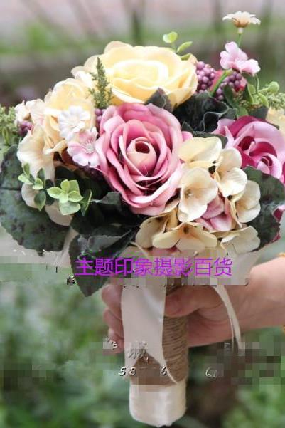 Wedding Bouquet Handmade Flowers Colorful Bridal Bouquet Wedding Bouquets