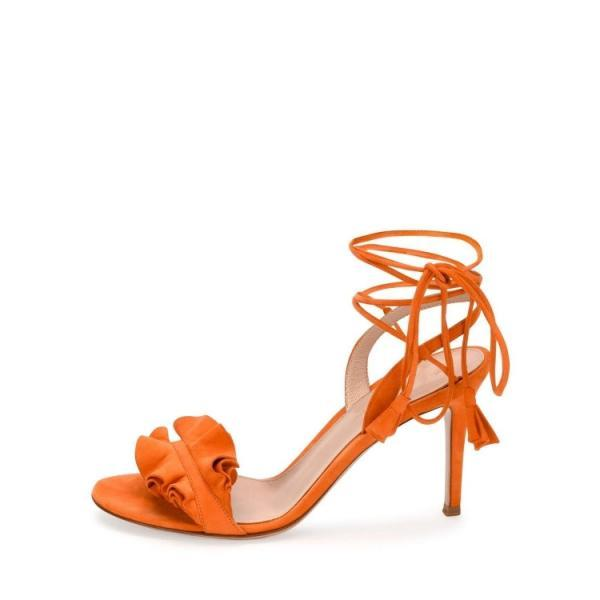 Women's Ruffled High Heel ..