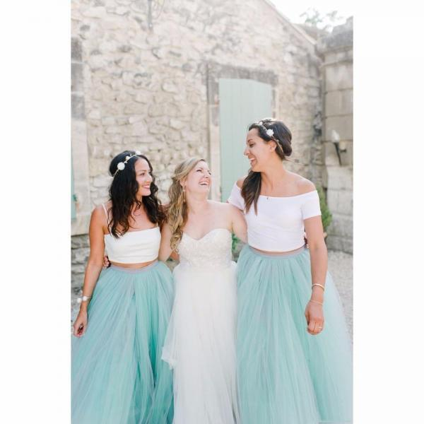 Bridesmaid Dress 2018 Cheap Mint Color Ball Gown Bridesmaid Of Honor Bridesmaid Dresses