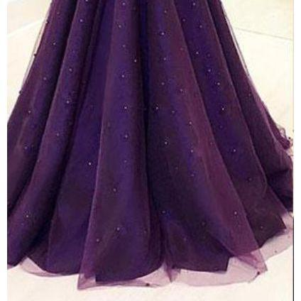 Elegant Illusion Round Neck Beaded Sequins Long Prom Dress,Sleeveless Tulle Prom Gowns