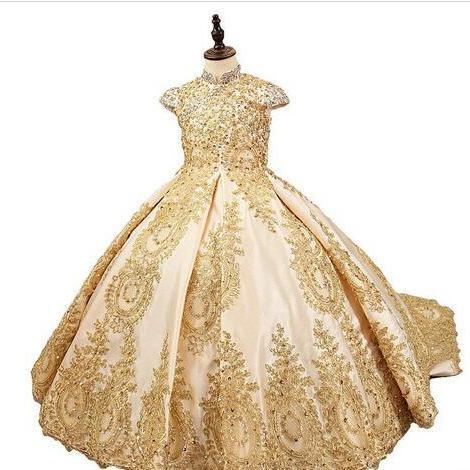 Handmade Pageant Dresses With Jacket Ball Gowns For Girls Flower Girl Dress 2018 Holy First Communion Dresses For Weddings Formal