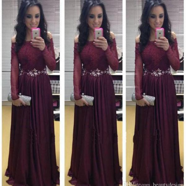 2016 Vestidos de noiva Burgundy Sheath Formal Open Back Prom Dresses Sequins Beaded Crystals Side Split Long Evening Gowns Formal Dresses
