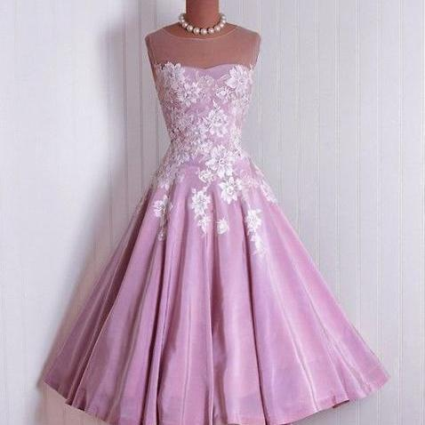 1950S Vintage Prom Party Gowns 2016 Lace Purple Bodice Mini Short Homecoming Party Dress