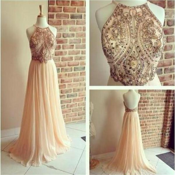 Backless Prom Dresses,A-line Prom Dresses,Chiffon Prom Dresses, Popular Prom Dresses,Cocktail Prom Dresses ,Evening Dresses,Long Prom Dress