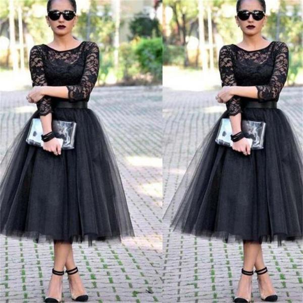 Lace Prom Dresses,Black Prom Dresses,Long Sleeves Prom Dresses,Evening Prom Dresses,Party Prom Dresses,Affordable Prom Dresses